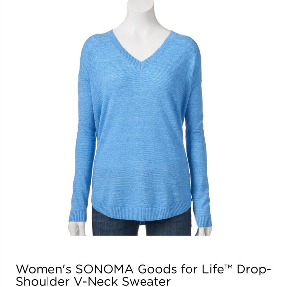 Sonoma Sweaters Blue Sweater Over Your Favorite Button Down Shirt
